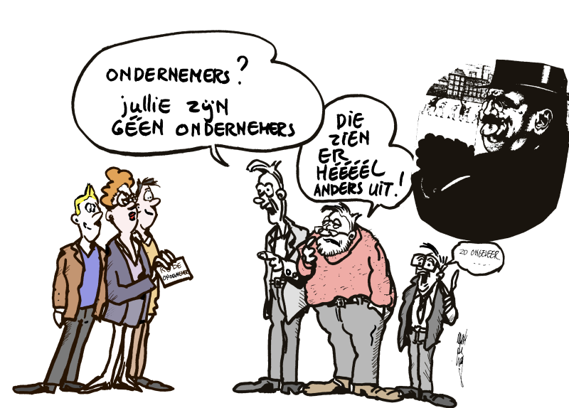 Cartoon Rode Ondernemers